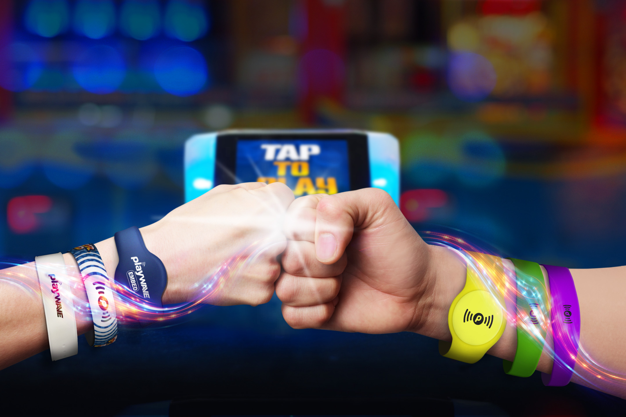 Embed Playwave Contactless cards and wristbands for Arcades & Family Entertainment Centres