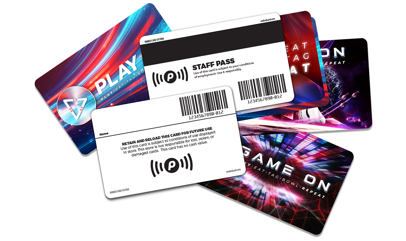 Enjoy more media options with Embed Playwave Contactless cards and wristbands for Arcades & Family Entertainment Centres
