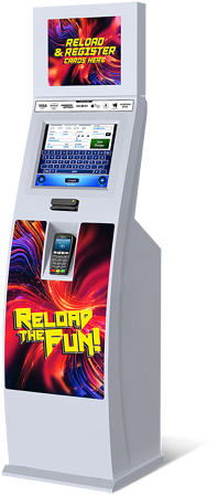 Increase your family entertainment centre or arcade  ROI with a re-load kiosk