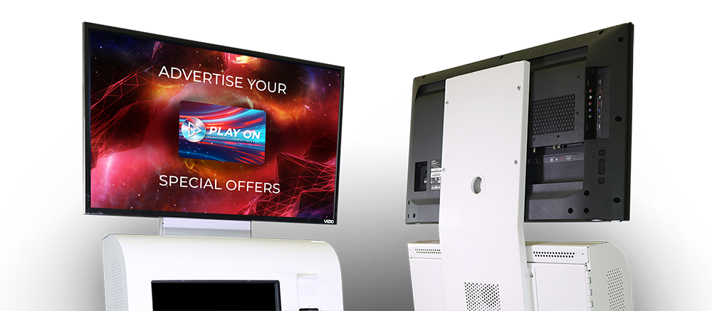 Further promote offers with TV displays for your Arcade & Family Entertainment Centre