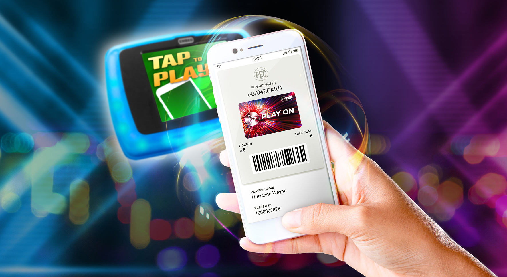 Mobile Wallet phone tapping for blog